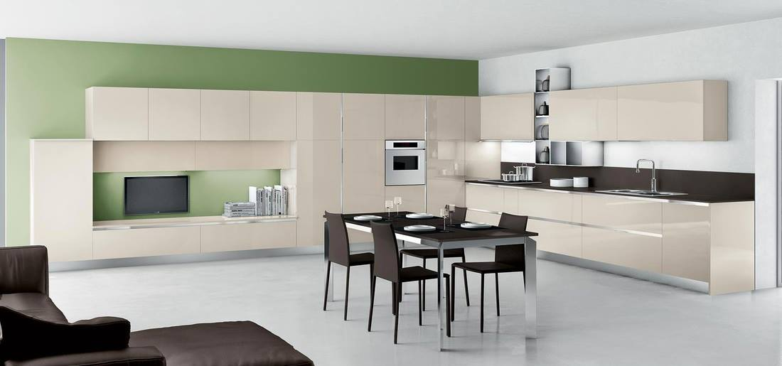 Giallo e grigio per una cucina moderna micromateria - Cucine moderne grigie ...